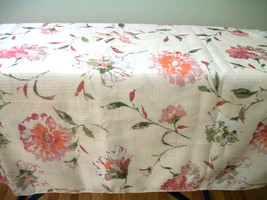 "NIP  tablecloth rectangular   84"" x 60""  Ivory ... - $17.81"