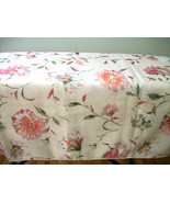 "NIP  tablecloth rectangular   84"" x 60""  Ivory ... - $17.81"