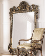 """NEW HORCHOW GRAND LARGE 84"""" ORNATE SCROLL SILVE... - $894.03"""