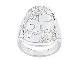 Ring Cacharel with clover, flower and heart (CSR142), Sterling Silver 0,925 - £54.69 GBP