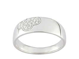 Ring Cacharel simple with flower and stones (CSR171Z), Sterling Silver 0... - £28.10 GBP