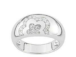 Ring Cacharel simple with two flowers and stones (CSR229Z) Sterling Silv... - £36.86 GBP