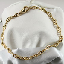 18K 750 YELLOW GOLD SOLID BRACELET, YELLOW GOLD WITH OVAL SEA LINK MADE ... - $1,210.00