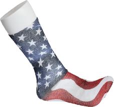 USA Flag America Fun Novelty Socks Dress Casual Knee SOX Stars Stripes A... - $8.89