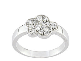 Ring Cacharel with flower and stones (CSR153Z), Sterling Silver 0,925 - £25.52 GBP