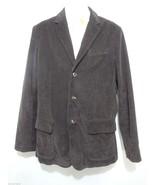 L.L. Bean Mens 42L Brown Cotton Corduroy Flannel Lined 3 Button Sport Coat - $51.45