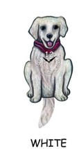 Pink Cloud White Retriever Purple Scarf Swinging Pendulum Wall Clock - $41.99
