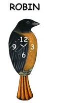 Pink Cloud Black and Yellow Robin Pendulum Wall Clock - $41.99