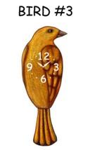 Pink Cloud Orange Bird #3 Swinging Tail Feather Pendulum Wall Clock - $41.99