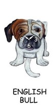 Pink Cloud English Bulldog Dog K9 Swinging Pendulum Wall Clock - $41.99