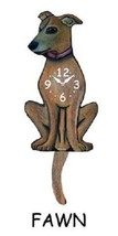 Pink Cloud Fawn Dog K9 Swinging Pendulum Wall Clock - $41.99