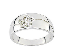Ring Cacharel simple with flower and stones (CSR190Z), Sterling Silver 0... - £29.98 GBP