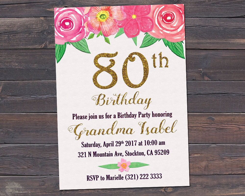 93 Birthday Invitations For Grandma