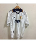 REAL MADRID SPAIN 1998 / 2000 FOOTBALL SHIRT JERSEY HOME ADIDAS SIZE L - $59.39