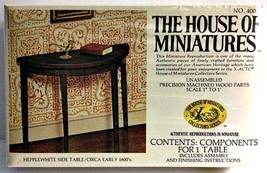 X-ACTO The House of Miniatures Hepplewhite Side Table Doll House Furnitu... - $14.64