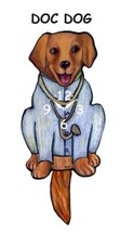 Pink Cloud Doctor Dog Swinging Tail Pendulum Wall Clock - $41.99
