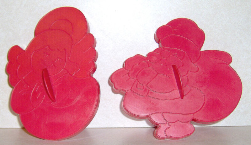 Lot 2 Vtg Wilton Christmas Cookie Cutters Santa Angel