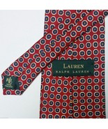 Lauren Ralph Lauren Green Label 100% Silk Neck Tie Red White Blue Yellow - $44.54