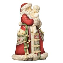 Enesco Heart of Christmas Santa Holding Child Figurine, 8.82-Inch