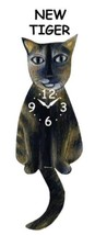Pink Cloud New Tiger Cat Swinging Pendulum Wall Clock - $41.99