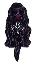 Pink Cloud Newfoundland Dog K9 Swinging Pendulum Wall Clock - $41.99
