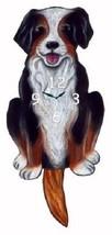 Pink Cloud Bernese Mountain Dog Swinging Pendulum Wall Clock - $41.99
