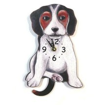 Pink Cloud Beagle Swinging Pendulum Wall Clock - $41.99