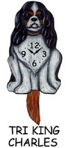 Pink Cloud Tri King Charles Tri-Color Swinging Pendulum Wall Clock - $41.99