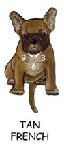 Pink Cloud Tan French Bulldog Dog K9 Swinging Pendulum Wall Clock - $41.99