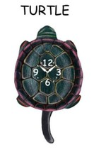 Pink Cloud Turtle Pendulum Wall Clock - $41.99