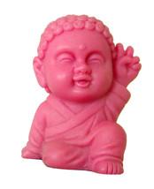 Pocket Buddha Peace Pink Buddhism Figurine Toy - $4.99