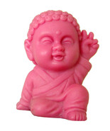 Pocket Buddha Peace Pink Buddhism Figurine Toy - $4.99
