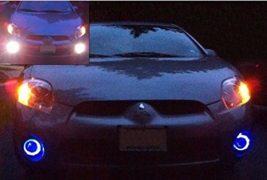 Blue Halo Fog Lamps Driving Lights Kit for 2006 2007 2008 Mitsubishi Eclipse - $98.77