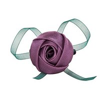 Set of 2 Hair Bands Rose Pattern Ponytail Holders Sweet Style Hair Accessories