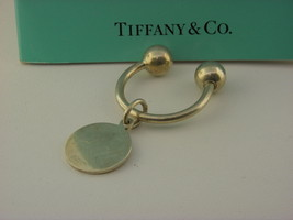 Tiffany & Co Sterling Silver Round Tag Key Ring. #25 - $64.35