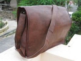 "Men's 15"" New Leather Messenger Vintage full flap Laptop Computer Briefc... - $40.00"