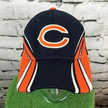 Chicago Bears NFL Reebok Mens O/S Hat Black Orange Fitted Pro Back Baseball Cap - $19.79