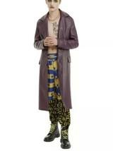 DC Comics Suicide Squad The Joker Faux Crocodile Leather Trench Coat Siz... - $70.78