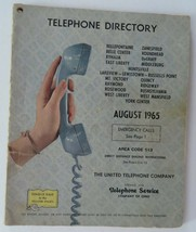 Telephone Directory 1965 Ohio Area 513 Bellefontaine Indian Lake Cities ... - $18.95