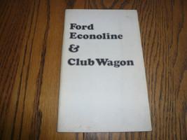 1974 Ford Econoline & Club Wagon Owner's Manual  Glove Box - $11.11