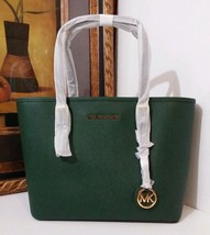 NWT MICHAEL KORS Jet Set Travel Saffiano Leather Small Tote Moss WAS $228 - $199.00