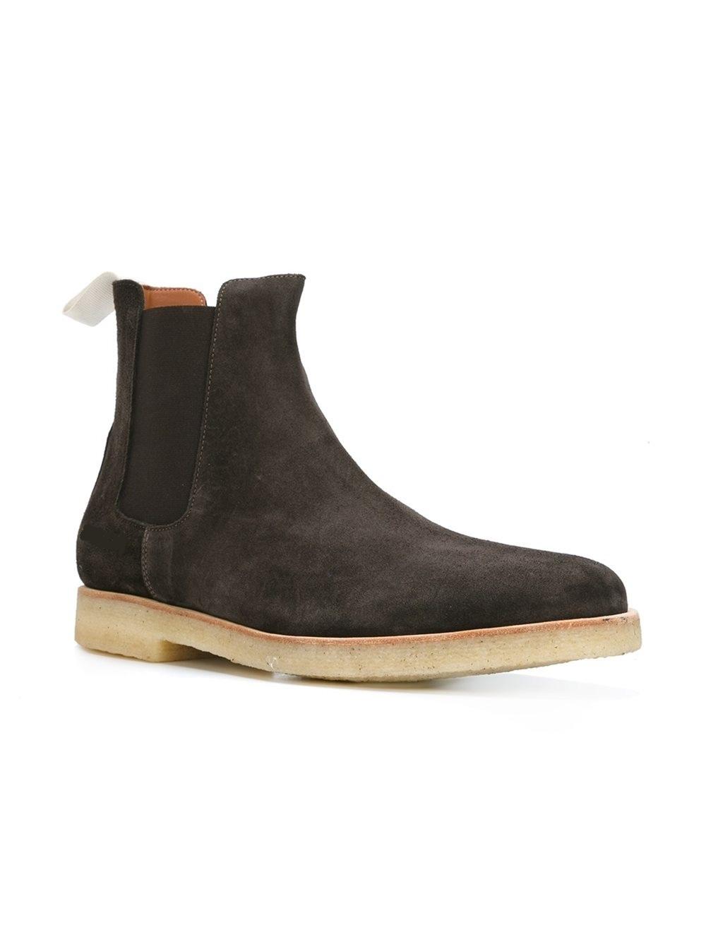 handmade men dark brown chelsea boots men brown boot for