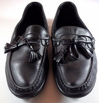 Allen Edmonds Black Leather Loafers Mens 10.5 D Cassell Driving Moccasin Shoes - $99.95