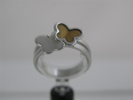 Ring Cacharel simple with two butterflies (CLR295Q), Sterling Silver 0,925 - £40.41 GBP