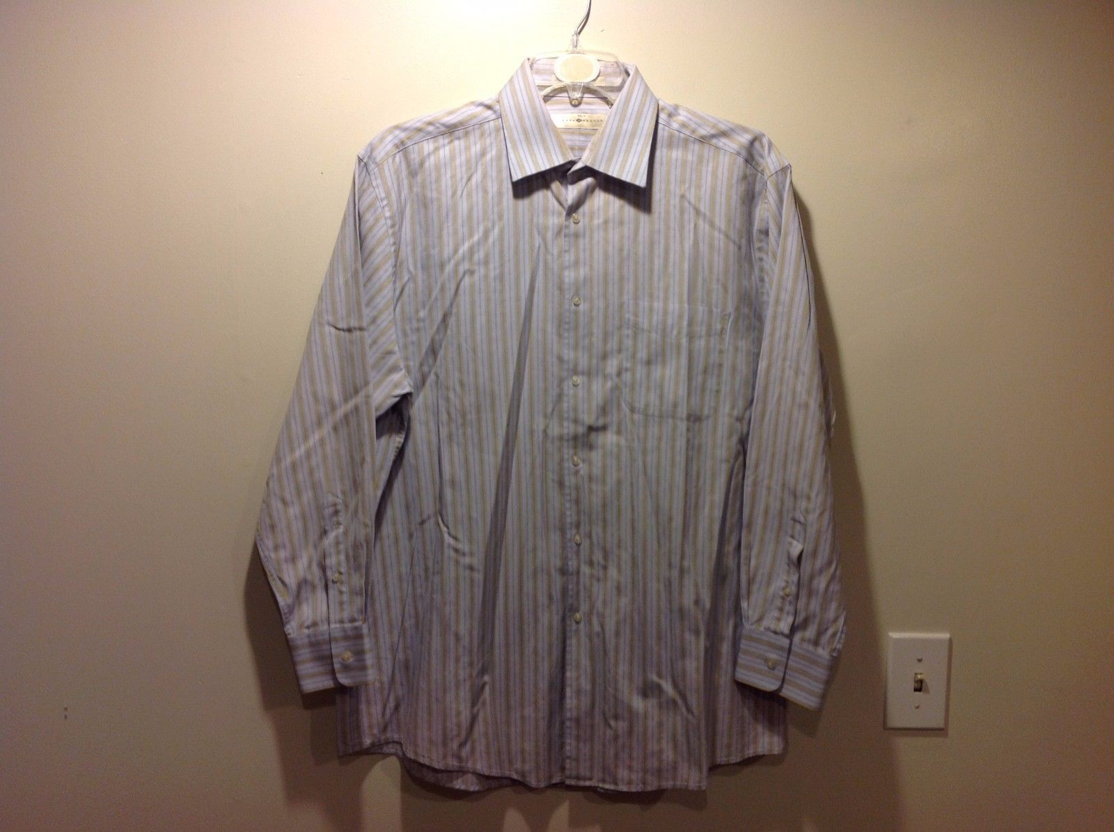 Joseph Abboud Vertically Striped Button Up Sz 17