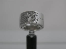 Ring Cacharel simple with three flowers (CSR299Z), Sterling Silver 0,925 - £53.18 GBP
