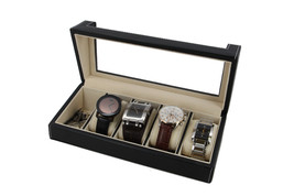 Executive High class  Leather 5-slot Watch Box Display Case New GIft - €29,31 EUR