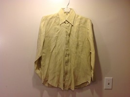 Mens Napoli UGO COLLELA Light Yellowy Green Button Up Shirt Sz 15 38