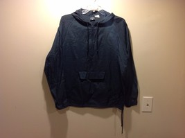 MV Sport Dark Navy Blue Hooded Windbreaker Pullover Jacket Sz Medium