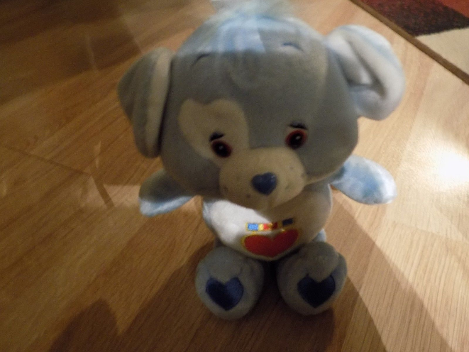 "Primary image for 10"" Care Bear Cousin Loyal Heart Dog Plush 2003 Blue Heart Tummy NWOT New"